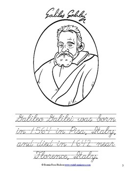 Galileo Galilei Coloring Book-Level C