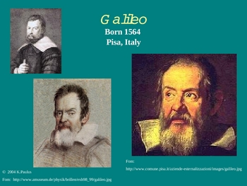 Galileo His Telescope & Observations Presentation (inclined planes)