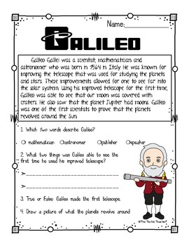 Galileo Reading Passage