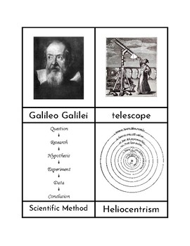 Galileo - Three/Four Part Cards FREEBIE