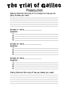 Galileo Trial Worksheets and Project File