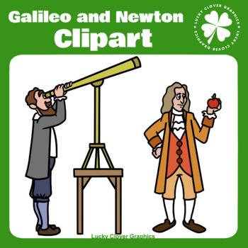 Galileo and Newton Clipart