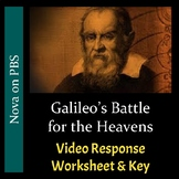 Galileo's Battle for the Heavens - Video Response Worksheet and Key (Editable)