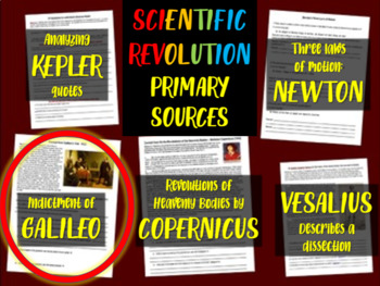 Galileo's Trial - Scientific Revolution Primary Source with guiding questions