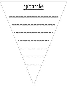 Gallardete de sinónimos en un gradiente