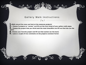 Gallery Walk (Any project!)