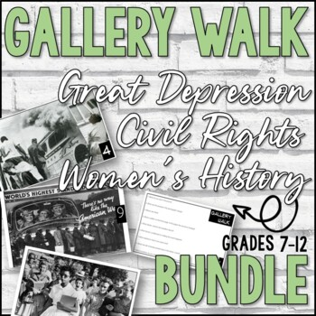 Gallery Walk Bundle (Great Depression, Civil Rights, Women's History)