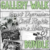 Gallery Walk Bundle (Great Depression, Civil Rights, Women's History)