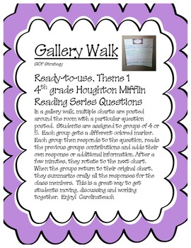 Gallery Walk Bundle Houghton Mifflin ALL 4th Grade Themes Save $4