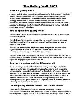 Gallery Walk FAQS