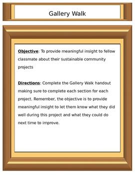 Gallery Walk Handout
