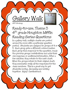 Gallery Walk Houghton Mifflin Reading Series, Theme 3, 4th Grade
