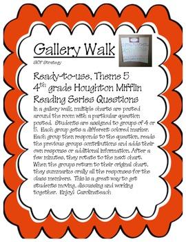 Gallery Walk Houghton Mifflin Reading Series, Theme 5, 4th Grade
