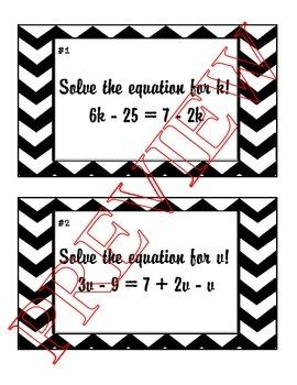 Gallery Walk - Multi-Step Equations