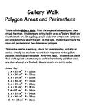 Gallery Walk - Polygon area and perimeter