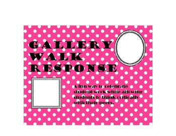 Gallery Walk Response Sheet