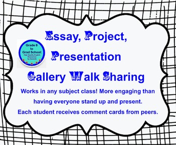 Gallery Walk Sharing of Essays, Projects, Presentations