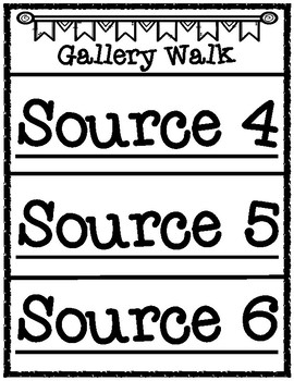 Gallery Walk Source Labels and Conversation Starters