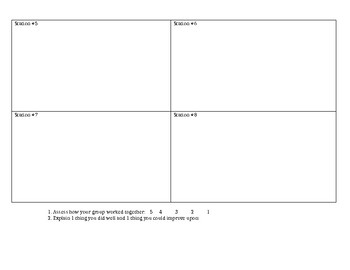 Gallery Walk-Template and assessment for students!
