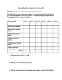 Gallery Walk and Peer Evaluation Reflection Form