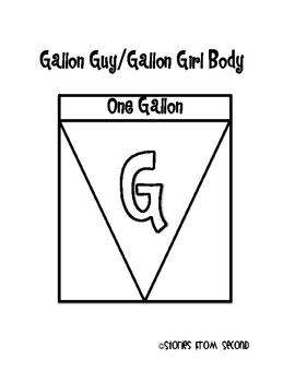 Gallon Girl and Gallon Guy {Superhero Capacity Craftivity}