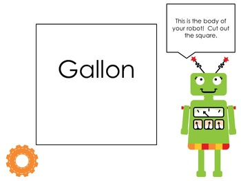 Gallon Guy/Gal Robot Template Packet--FREE