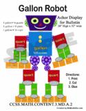 Gallon Liquid Volumes Anchor Chart Robot and Student Versi