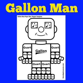 Gallon Man Printable Teaching Resources | Teachers Pay Teachers
