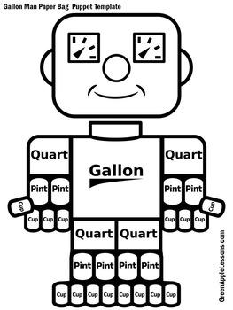 Gallon Man Activity | Gallon Man Printable | Gallon Man Cut Out