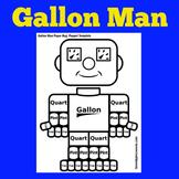 Gallon Man Printable   Gallon Guy   Kindergarten 1st 2nd 3rd Grade
