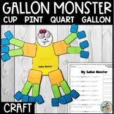 Gallon Man / Gallon MONSTER/ Units of Capacity Activity