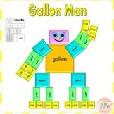 Gallon Man, Math Activity, Learning Measurements