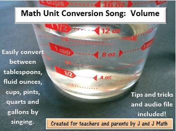 Math Conversion Song:  Volume