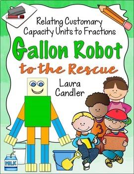 Gallon Man / Gallon Robot (Measurement and Fractions)