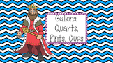 Gallons, Quarts, Pints, Cups Reference Sheet
