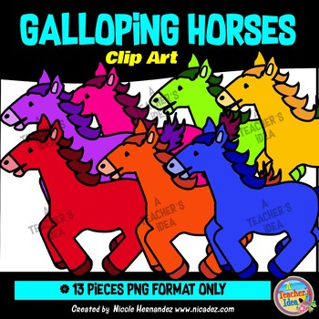 Galloping Horses Clip Art Commercial Use