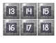 Galvanized Metal and Chalkboard Number Labels