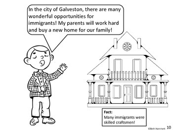 Galveston, Gateway to America (Texas History Comic Coloring Book)