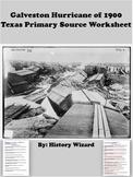 Galveston Hurricane of 1900 Texas Primary Source Worksheet