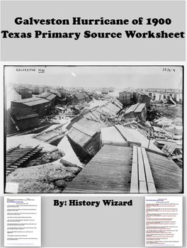 Galveston Hurricane of 1900 Texas Primary... by History Wizard ...