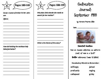 Galveston Journal: September 1900 Trifold - ReadyGen 6th Grade Unit 2 Module B