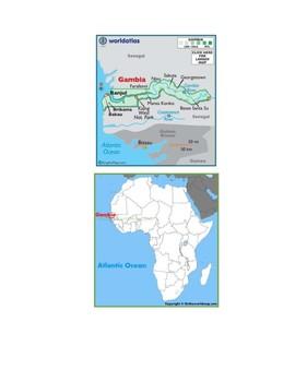 Gambia Map Scavenger Hunt