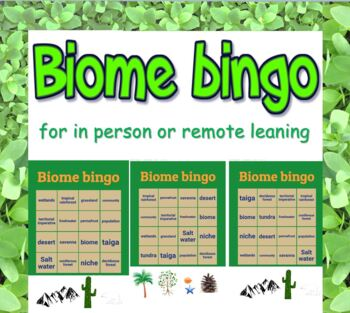 Game: Biome & Ecosystem bingo