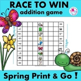 Game Addition Facts Race to Win Spring Edition