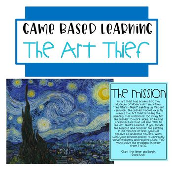 Game Based Learning: The Art Thief
