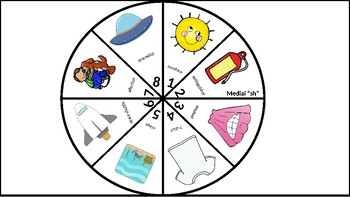Game Board Articulation Spinners: CH, SH, TH; Digraphs