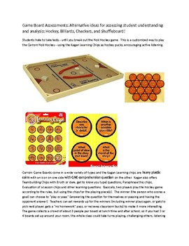 Game Board Assessments!  Alternatives to paper tests