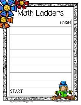 Game Board: Autumn {Math Ladders}