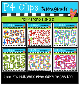 Game Board BUNDLE (P4 Clips Trioriginals Digital Clip Art)