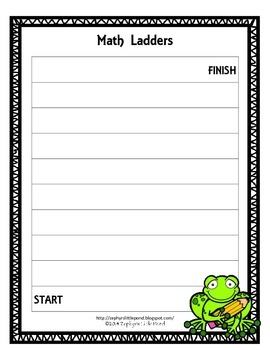 Game Board: Back to School {Math Ladders}